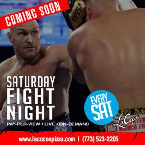 Saturday Fight Night - LaCoco's Pizza and Sports Club