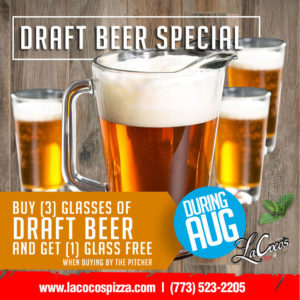 LaCoco's Draft Beer Special