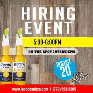 LaCoco's Hiring Event
